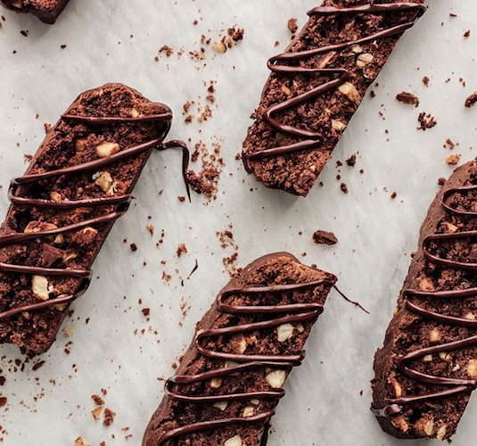 Chocolate almond biscotti blows the traditional variety out of the park. Photo: @pastryaffair