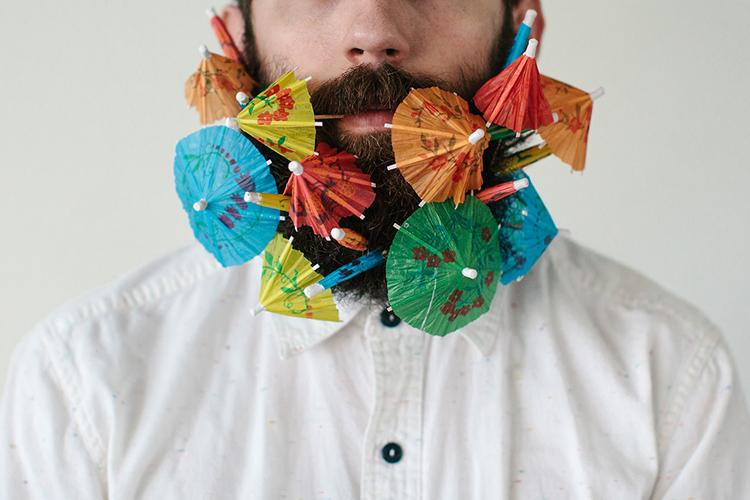 Beard and Umbrellas