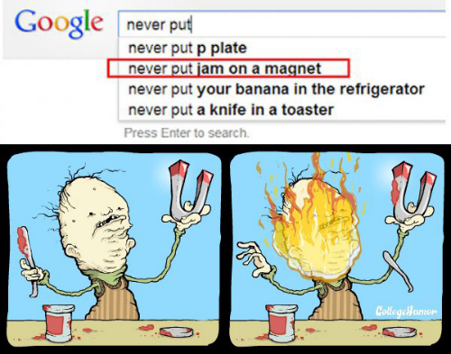 Incredibly bizarre food related google searches illustrated first we feast - What you can do with magnets ...