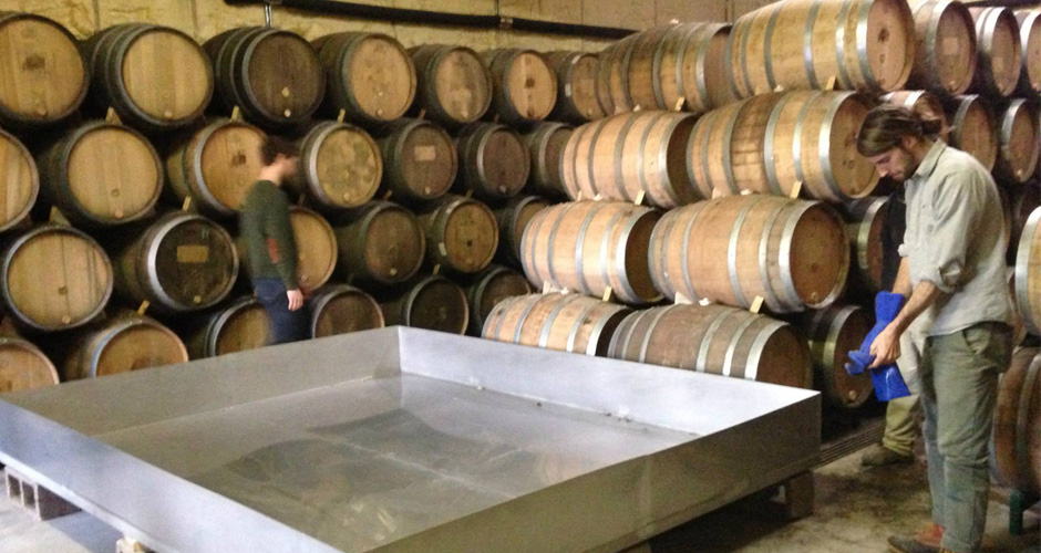 Coolship and barrels at Jester King (photo: