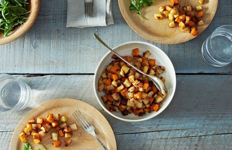 Miso-Maple Roasted Roots. A very basic, endlessly customizable miso sauce, tempered with sticky-sweet maple syrup, tossed with root vegetables, roasted until golden. Use whatever root vegetables you have handy—almost anything works.