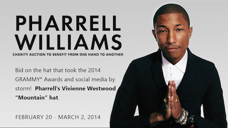 Pharrell Hat Auction Pharrell_auction