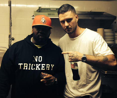 Raekwon with Sweet Chick owner John Seymour. (Photo courtesy of YC Media)