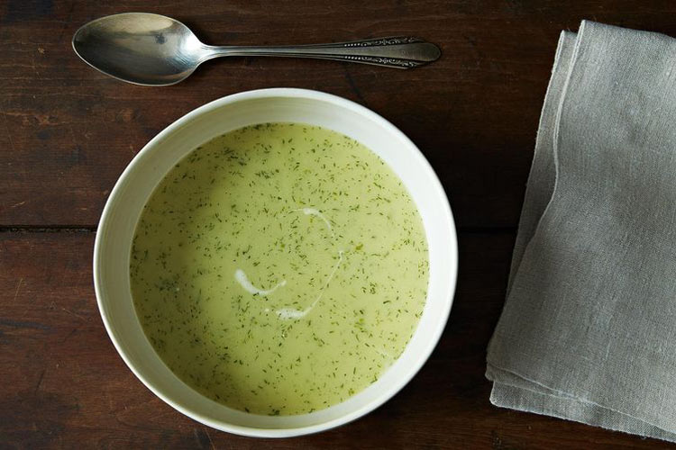 Jane Grisgon's Celery Soup. With this recipe, you can make a rich, creamy, delicately flavored soup out of almost nothing.