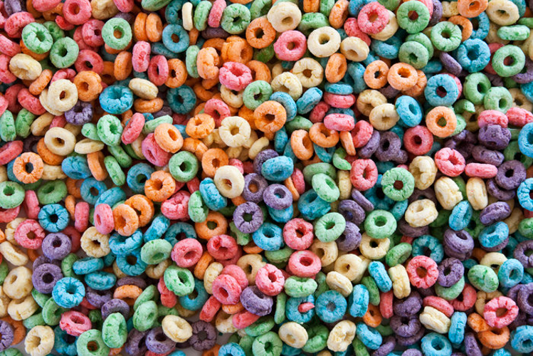 Fruit rings cereal