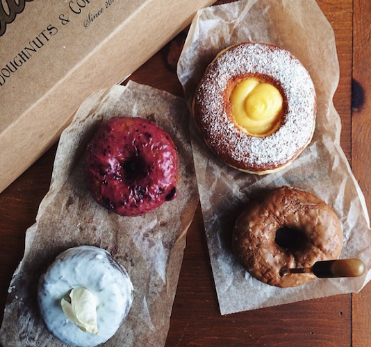 No trip to Costa Mesa, CA would be complete without stopping at Side Car Doughnuts. Black Velvet, huckleberry, meyer lemon curd, and sticky toffee are just a handful of the creative flavors on offer. Photo: @caye_nano/
