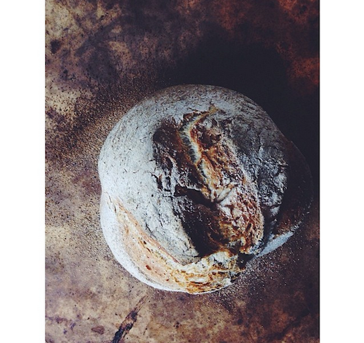 Sometimes a rustic loaf of bread is all you need. Photo: @abrowntable