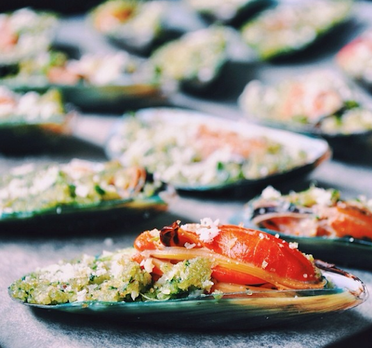 Stuffed mussels en route to the oven from The Cookism Project. Photo: @thecookismproject