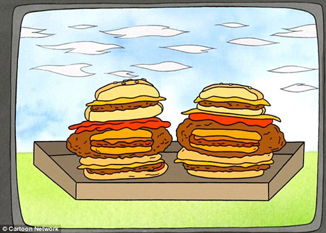 The Regular Show cartoon burger.