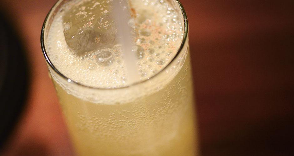 Battle of Troy: Jameson Original Irish Whiskey, Absolut Craft Herbaceous Lemon Vodka, pine, lemon, eucalyptus