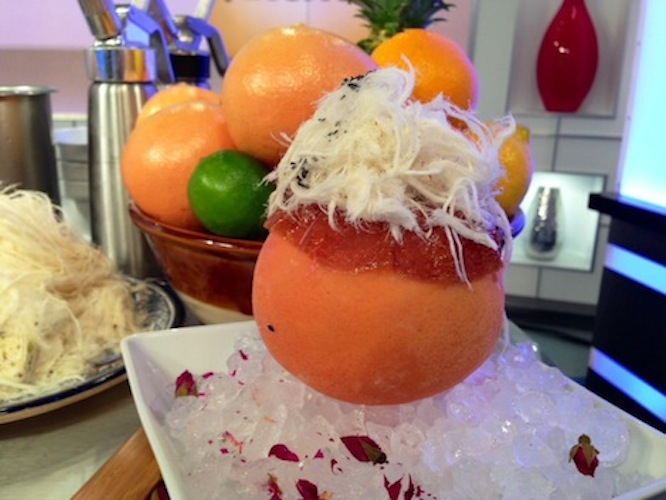 Grapefruit givre at Boulud Sud. Photo: CBS Local