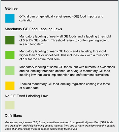 GMO Food Labeling Laws Around The World