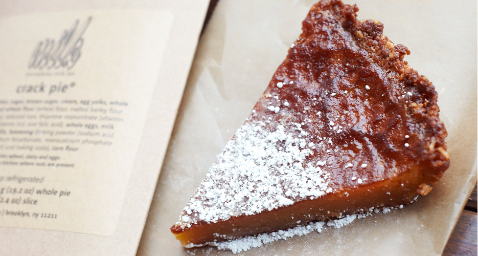 Crack Pie from Momofuku Milk Bar in NYC. (Photo: Liz Barclay)