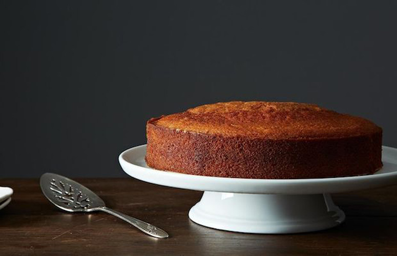 Maialino's Olive Oil Cake. This effortlessly sexy dessert can be stirred together from your pantry. It is cheery and uncomplicated, with a crackly brown crust and an almost pudding-like interior.