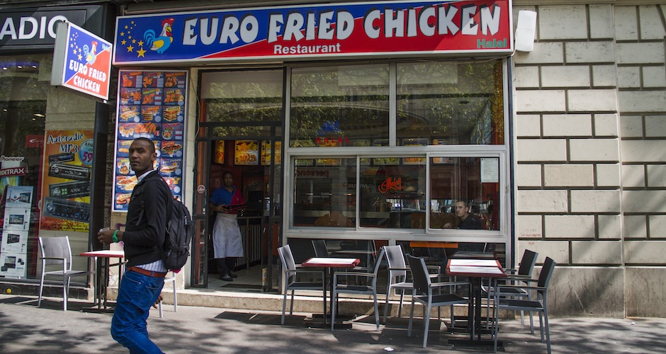 Is euro-fried chicken better than the fried chicken off the J train at Myrtle Ave?