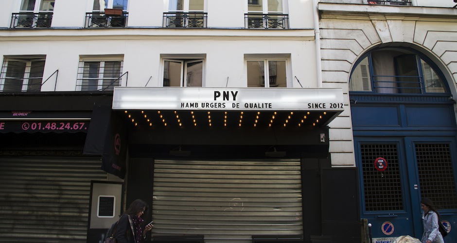 PNY (a.k.a. Paris New York) is a burger restaurant on Rue Faubourg Saint-Denis, which is an area experiencing slow gentrification. There are a couple hipster hang-outs, but there are more places to find lahmaçun (Turkish pizza).