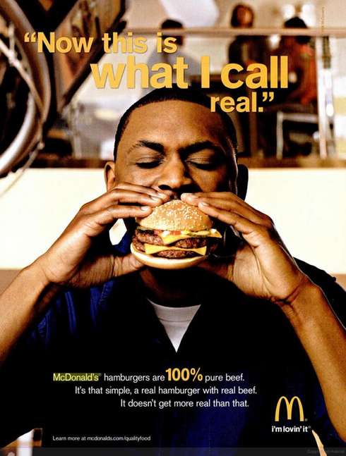 A 2008 Mcdonald's ad in Ebony Magazine. (Photo: NPR)