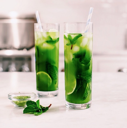 This matcha mint iced tea is giving green juice a run for its money. Photo: @loveandlemons