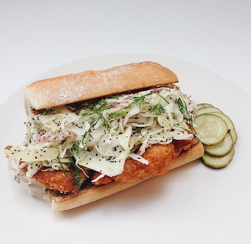 We want to destroy this chicken schnitzel sandwich from