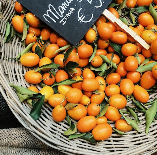 Photographer Alice Gao shoots a bright basket of kumquats on her trip to Italy. Photo: @alice_gao