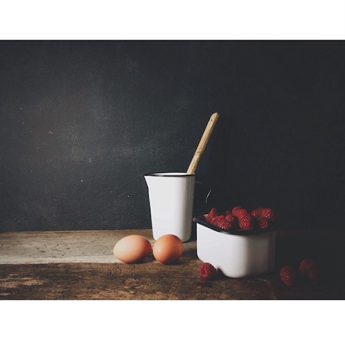 Nik Sharma's stunning shots tend to look like old paintings. The enamelware helps. Photo: @abrowntable