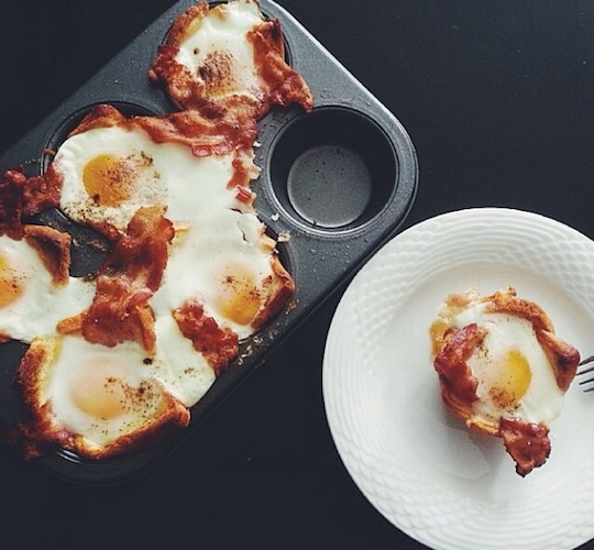 This tray of bacon and egg popovers is all kinds of awesome. Photo: @vsco_food