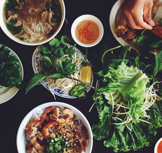This mouthwatering spread has us longing for a vacation to Vietnam. Photo: @njinla