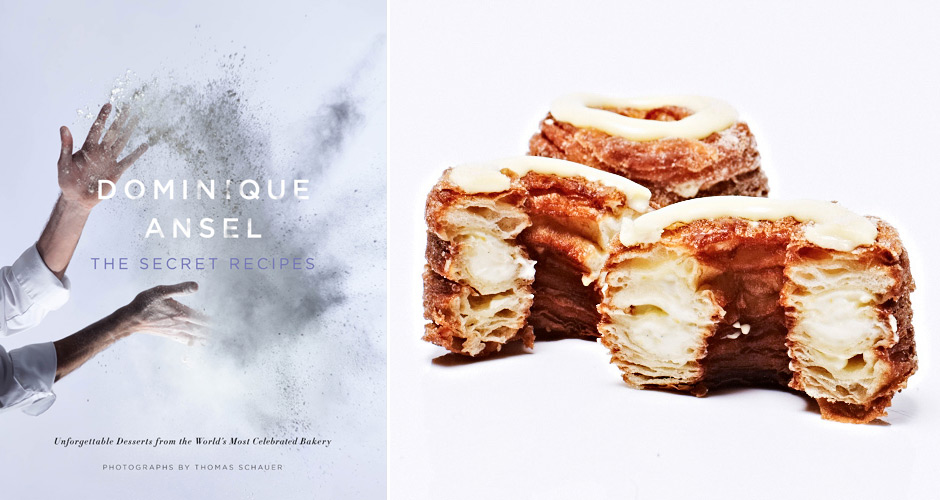 The cover of Dominique Ansel's new cookbook; the pastry chef's signature Cronut pastry. (Photo: Simon & Schuster, Liz Barclay)