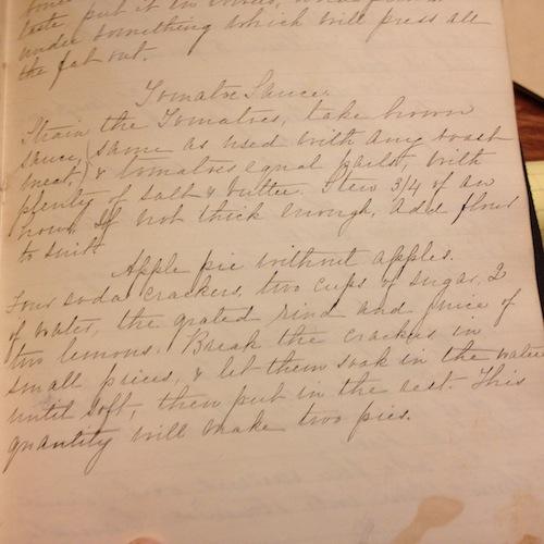 Mary Virginia Stiles, Cookbook, 1884-1886. New-York Historical Society Manuscript Collection