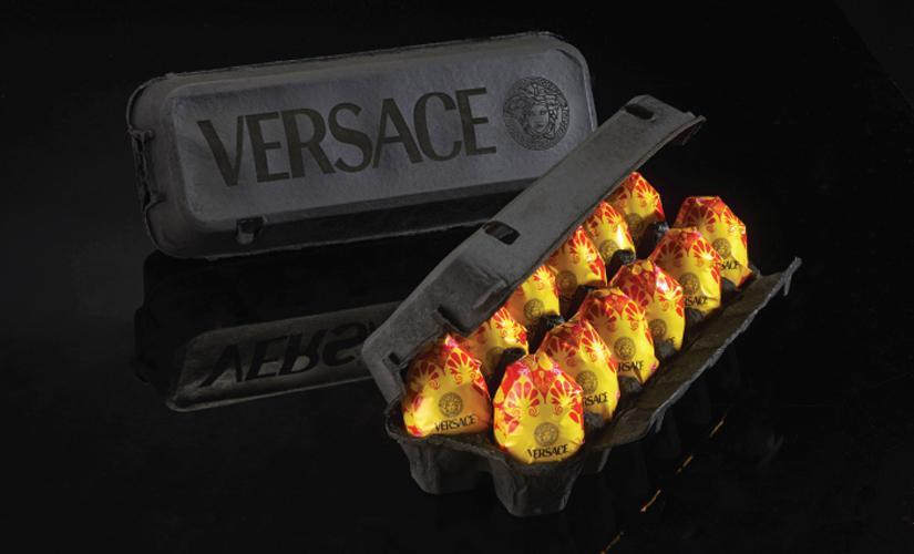 Eggs by Versace. (Photos: