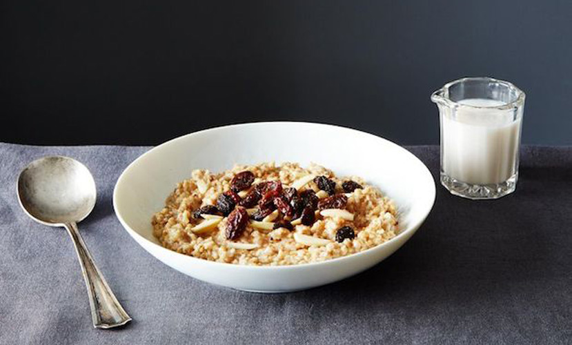 Toast Brown Butter Steel-Cut Oats. Toasting the oats adds layers of nutty, semi-sweet flavors to this traditional Irish breakfast. A bit of heavy cream added at the end makes this oatmeal feel decadent.