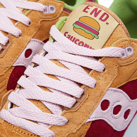 Burger sneaker label