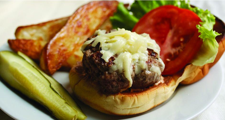 Simple burger perfection (photo: Cara Eisenpress)