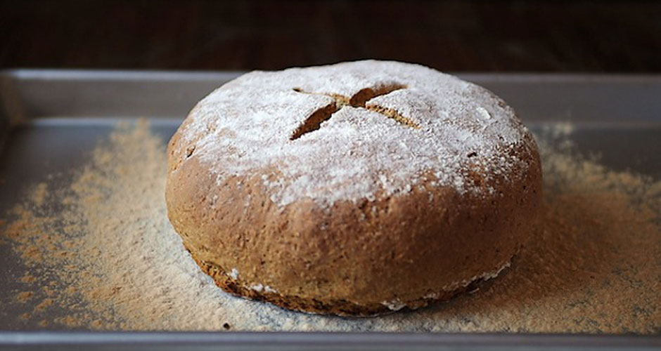 Irish Brown Soda Bread. This soda bread is more rustic and hearty, and totally savory. It's made with a combination of white and whole wheat flour and oats, and toasted wheat germ gives the loaf a wonderful nutty depth.