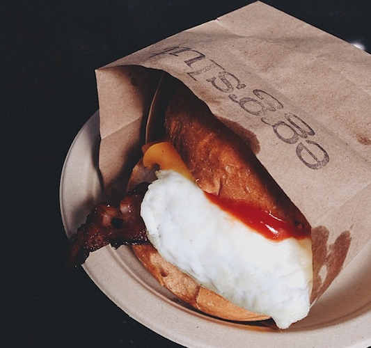 It's official: L.A.'s Eggslut wins the prize for most insane breakfast sandwiches. Photo: @njinla