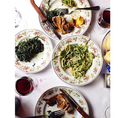 Sara Kate Gillingham of The Kitchn shows off her first meal in Rome. Photo: @skgillingham