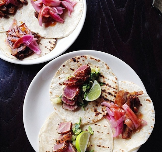 This vibrant plate of seared tuna tacos is the perfect way to celebrate Cinco de Mayo. Photo: @food52