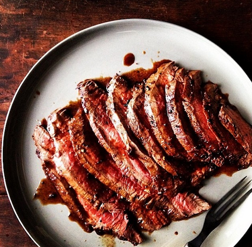 This incredibly juicy steak from Food52 is every carnivore's dream. Photo: @food52