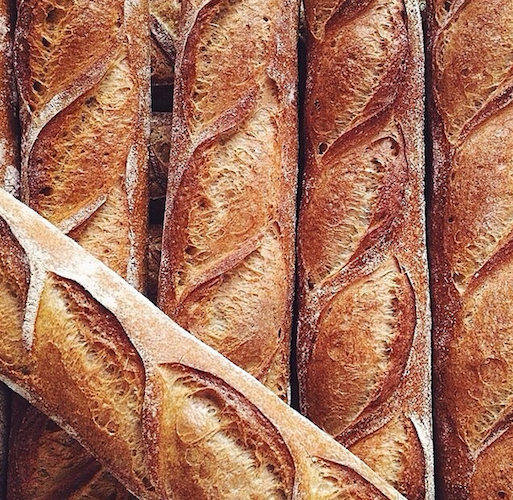 A baguette lineup from Bien Cuit is calling out for some butter and ham. Photo: @bonappetitmag