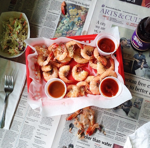 No trip to Savannah would be complete without a tray of peel-and-eat shrimp. Photo: @heathersper