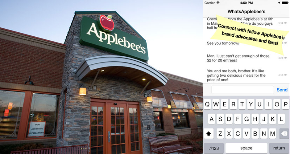 Photos: Applebees,  Whatsapplebees