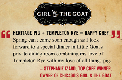 Photo: Templeton Rye Pork Project