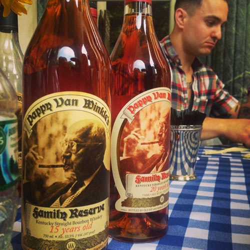 You know what goes good with piles of smoked meat? Pappy, that's what. (Photo: