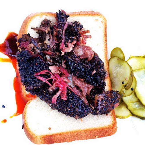 Peppery beef brisket from NYC's Hometown BBQ. (Photo: