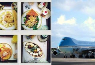 Pasta, pancakes, and a plethora of dessert served to  journalist aboard Air Force One in 2012. (Photo: Wikipedia)