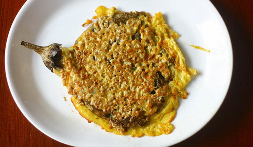PHILIPPINES: Lolo and Lola's Tortang Talong (Filipino Eggplant Omelet). A Filipino favorite packed with the most simple and comforting flavors. Substitute ground turkey for pork, or leave the meat out for a vegetarian option.