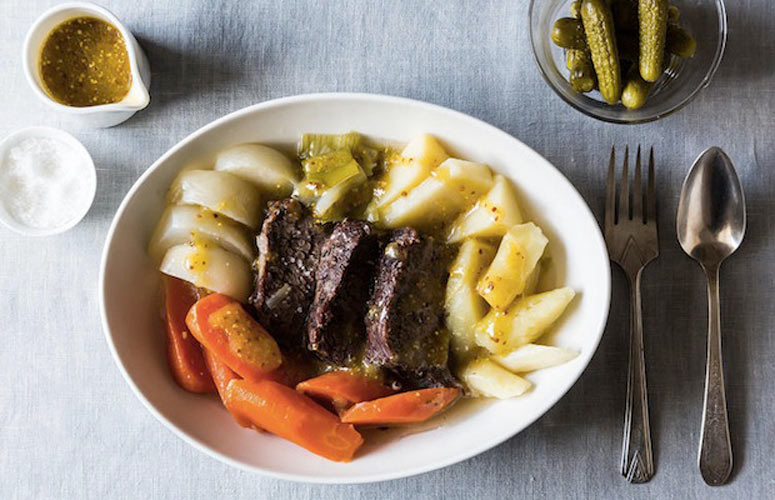FRANCE: Pot-au-Feu. Translating to pot-in-the-fire, this rustic French dish is the perfect dinner party food.