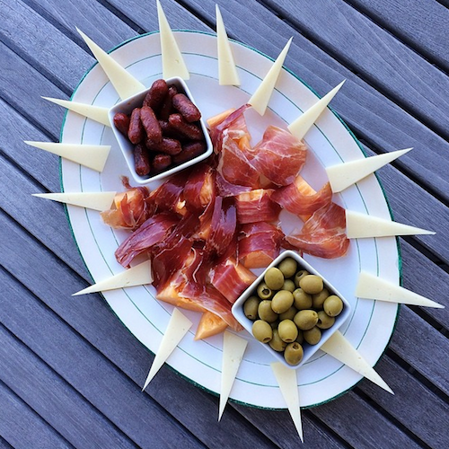 This is one stylish charcuterie plate. Photo: