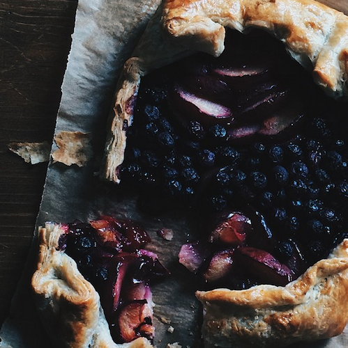 This rustic plum and blueberry galette is a stunner. Photo: