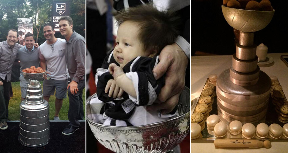 The Kings have filled the cup with meatballs, babies, and truffles. (Photos: Twitter)